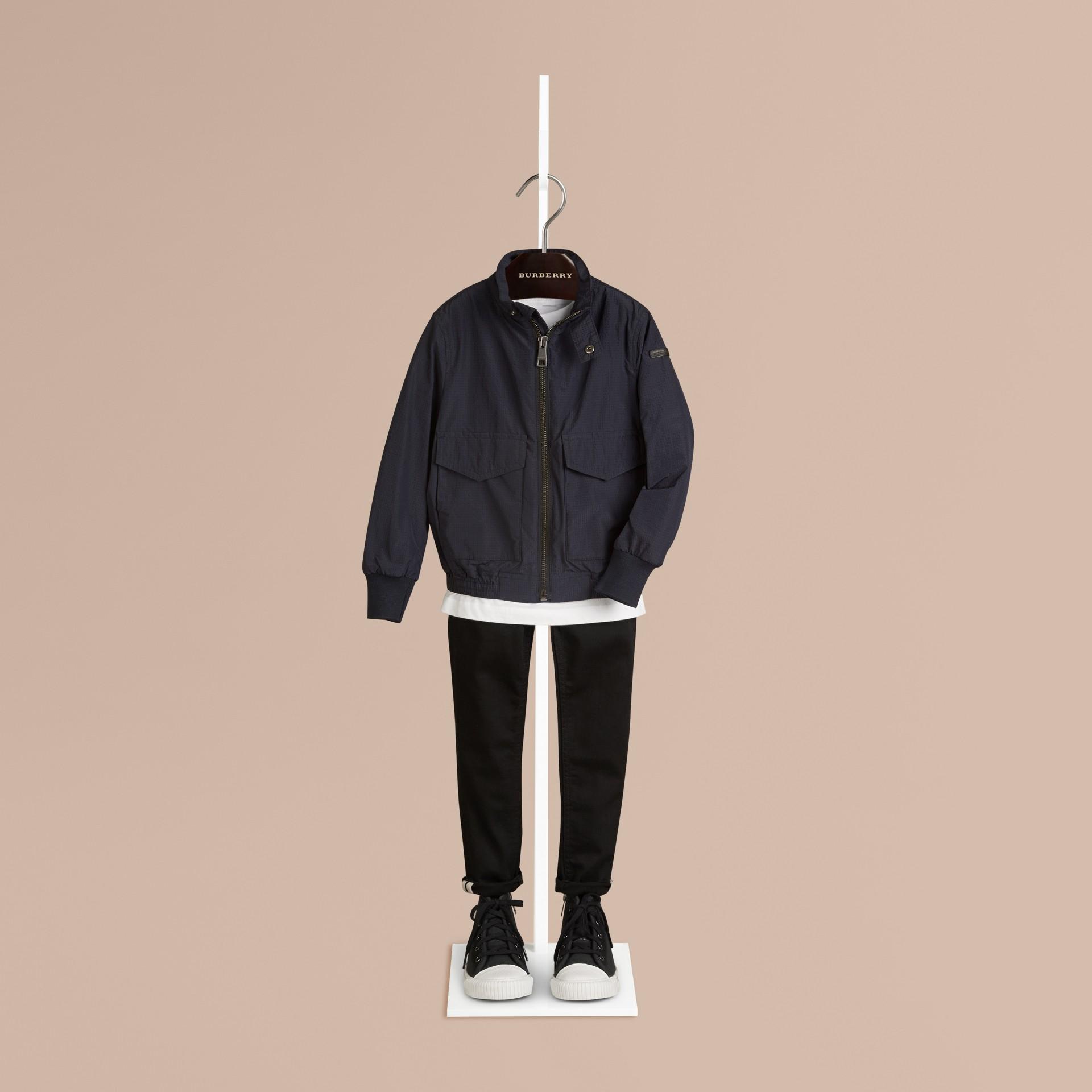 네이비 라이트 필드 재킷 - 갤러리 이미지 1