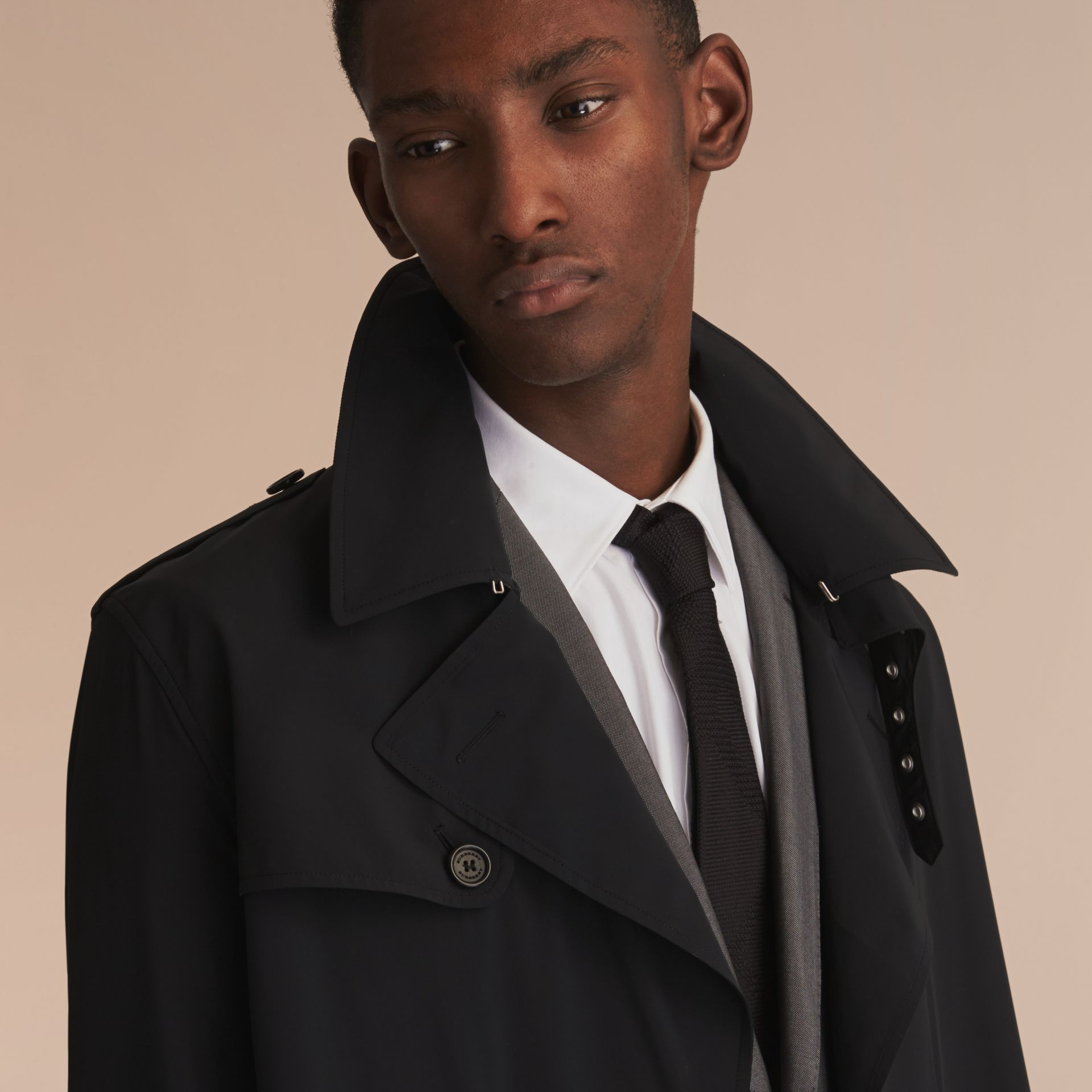 Lightweight Double-breasted Trench Coat - gallery image 5