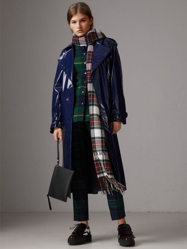 Haymarket Check and Leather Pouch in Black - Women | Burberry United Kingdom - cell image 2