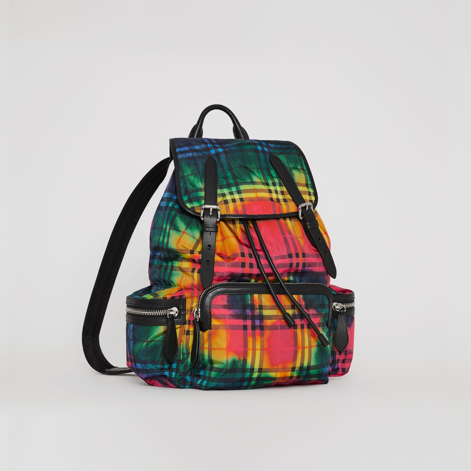 The Large Rucksack in Tie-dye Vintage Check in Multicolour | Burberry Singapore - gallery image 6
