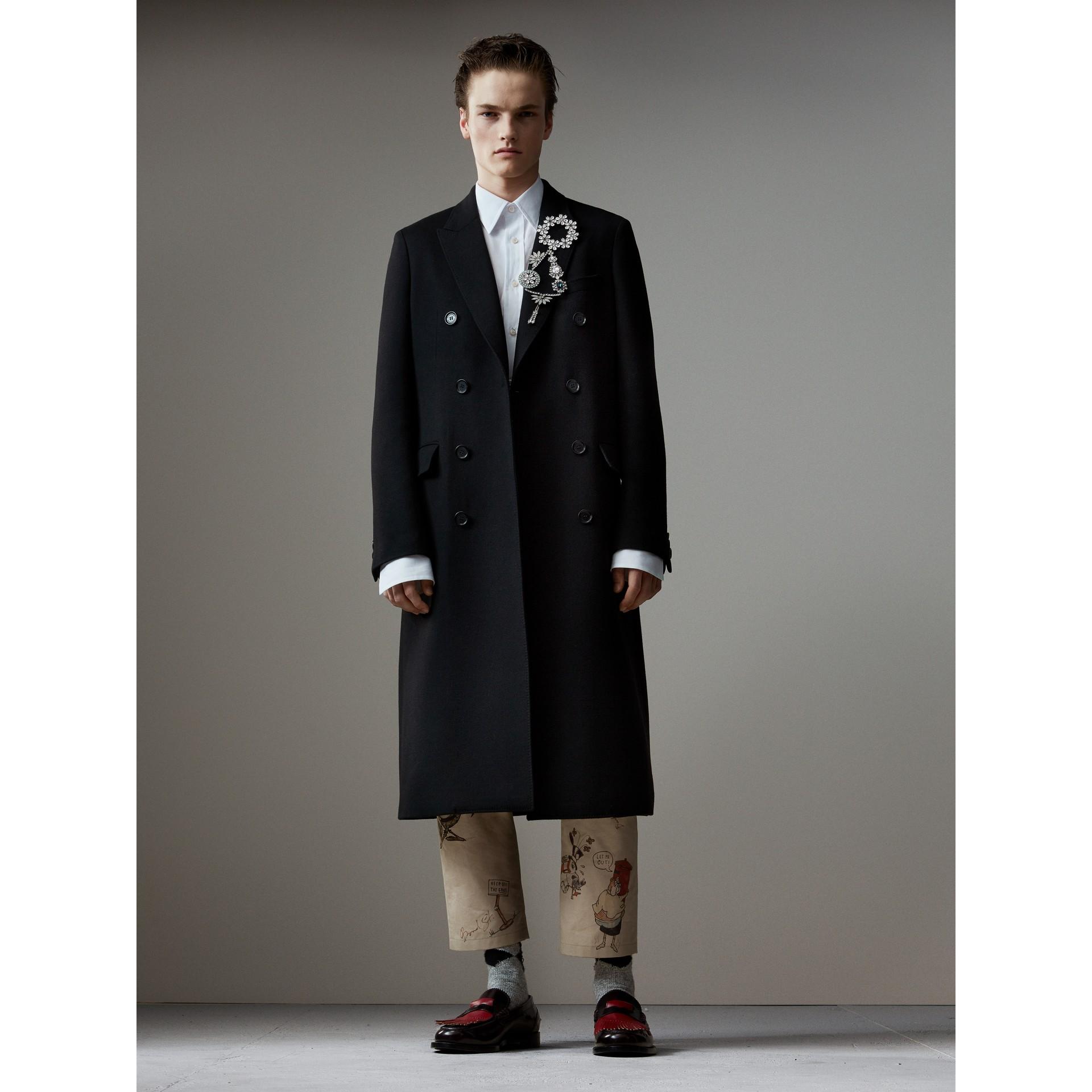 Loafers de couro com franjas em tom contrastante (Vermelho Ferrugem/vermelho Claret) - Homens | Burberry - galeria de imagens 6