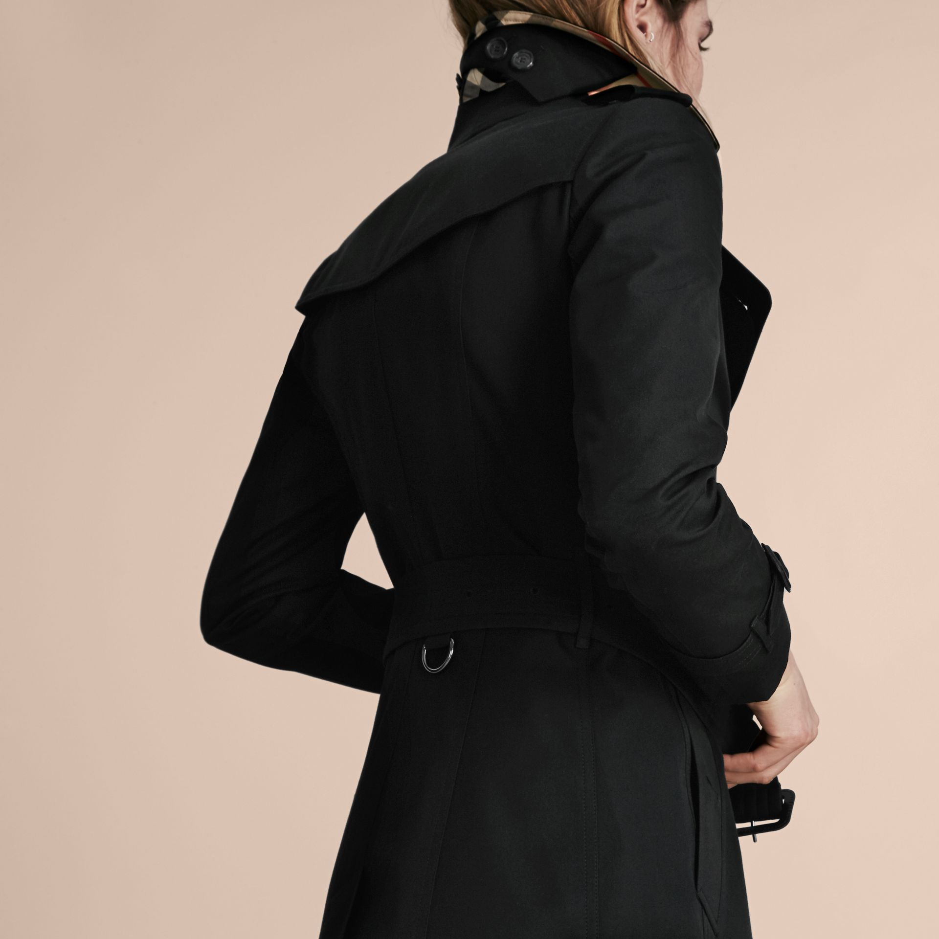 Black The Chelsea – Short Heritage Trench Coat Black - gallery image 3