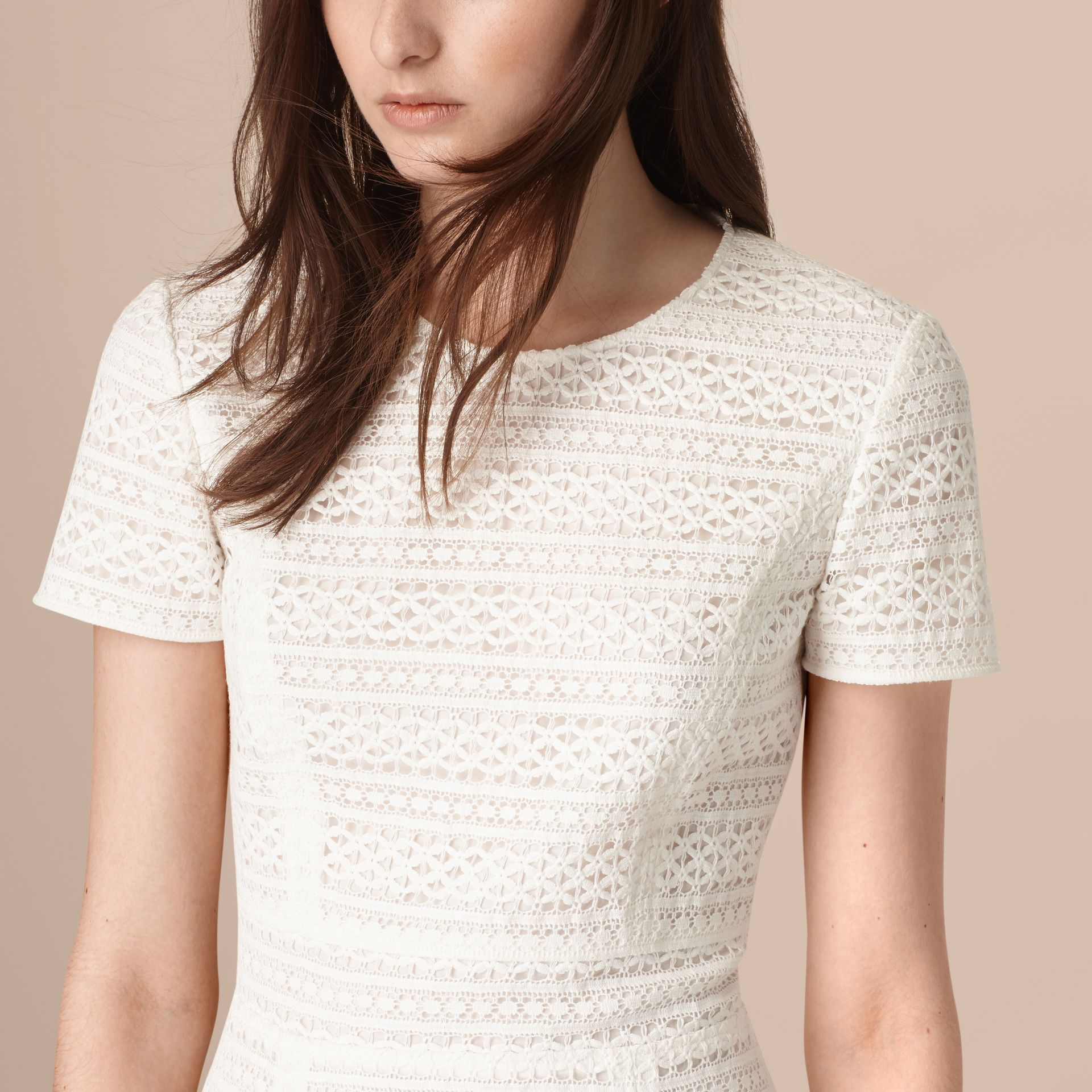 White English Lace A-line Dress - gallery image 2