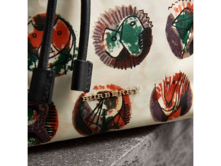 The Medium Rucksack in Technical Nylon with Pallas Heads Print - Women | Burberry Australia - cell image 1
