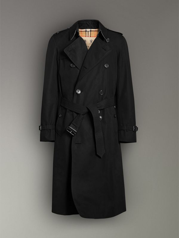 The Long Chelsea Heritage Trench Coat in Black - Men | Burberry United Kingdom - cell image 3