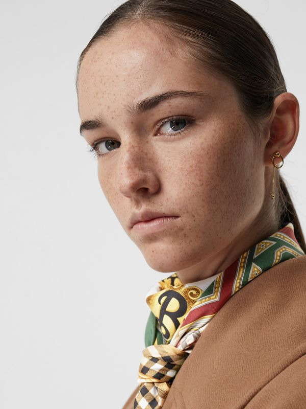 Oval and Charm Gold-plated Drop Earrings in Light - Women | Burberry Australia - cell image 2
