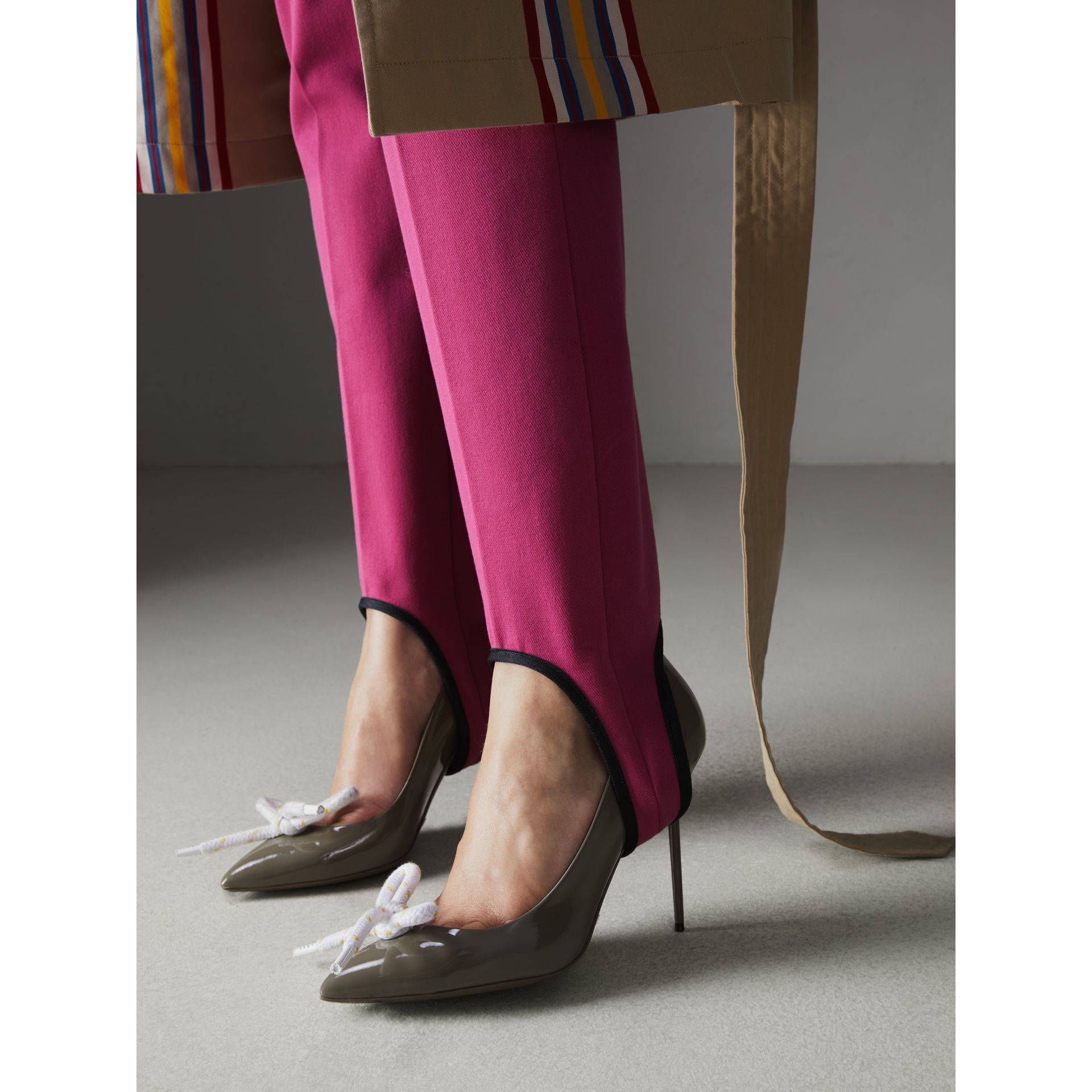 The Patent Leather Rope Stiletto in Taupe Grey - Women | Burberry - gallery image 2
