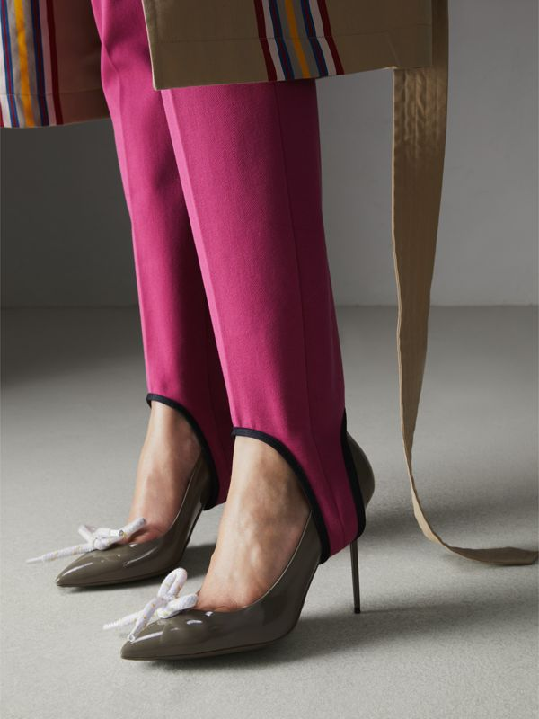 The Patent Leather Rope Stiletto in Taupe Grey - Women | Burberry - cell image 2