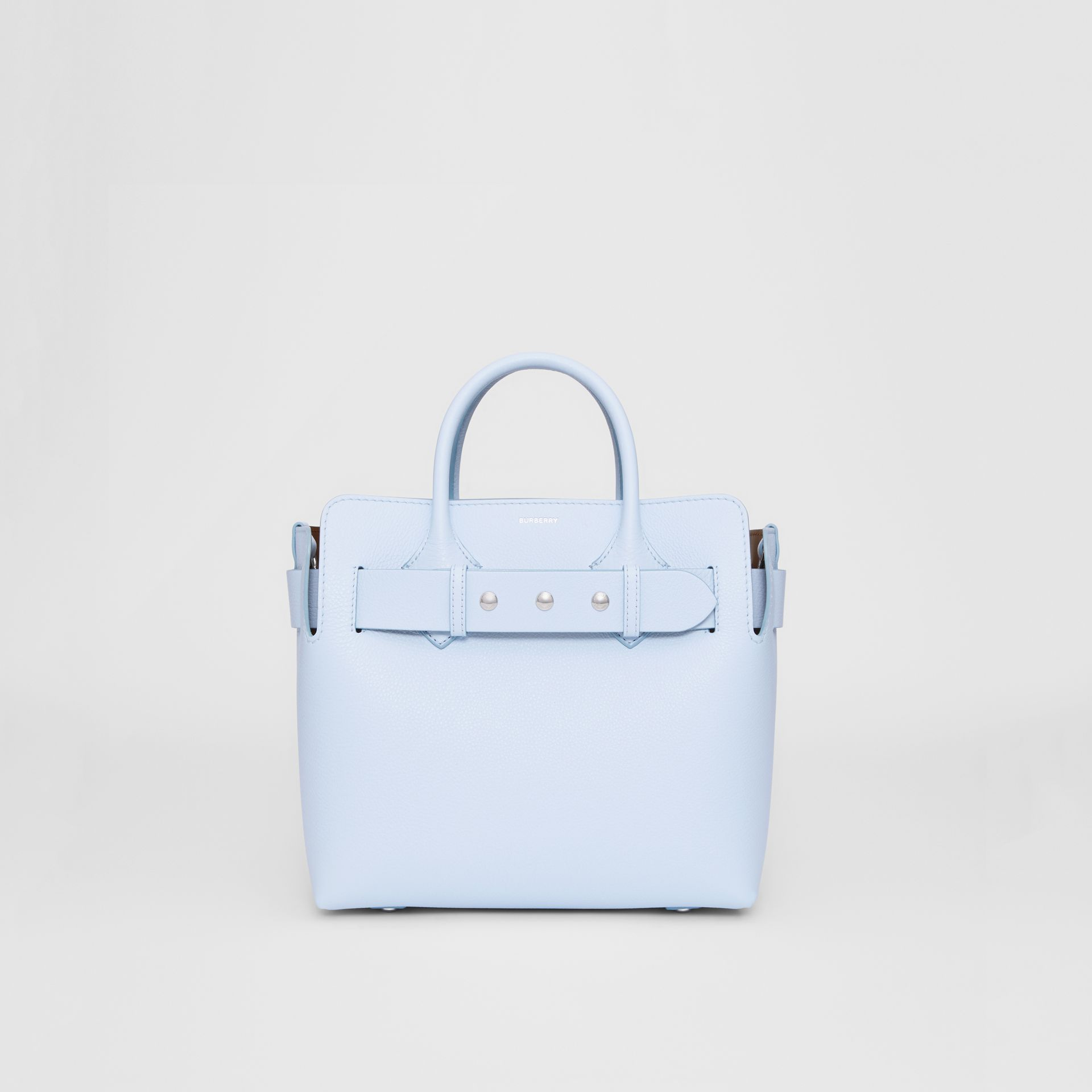 The Small Leather Triple Stud Belt Bag in Pale Blue - Women | Burberry - gallery image 0