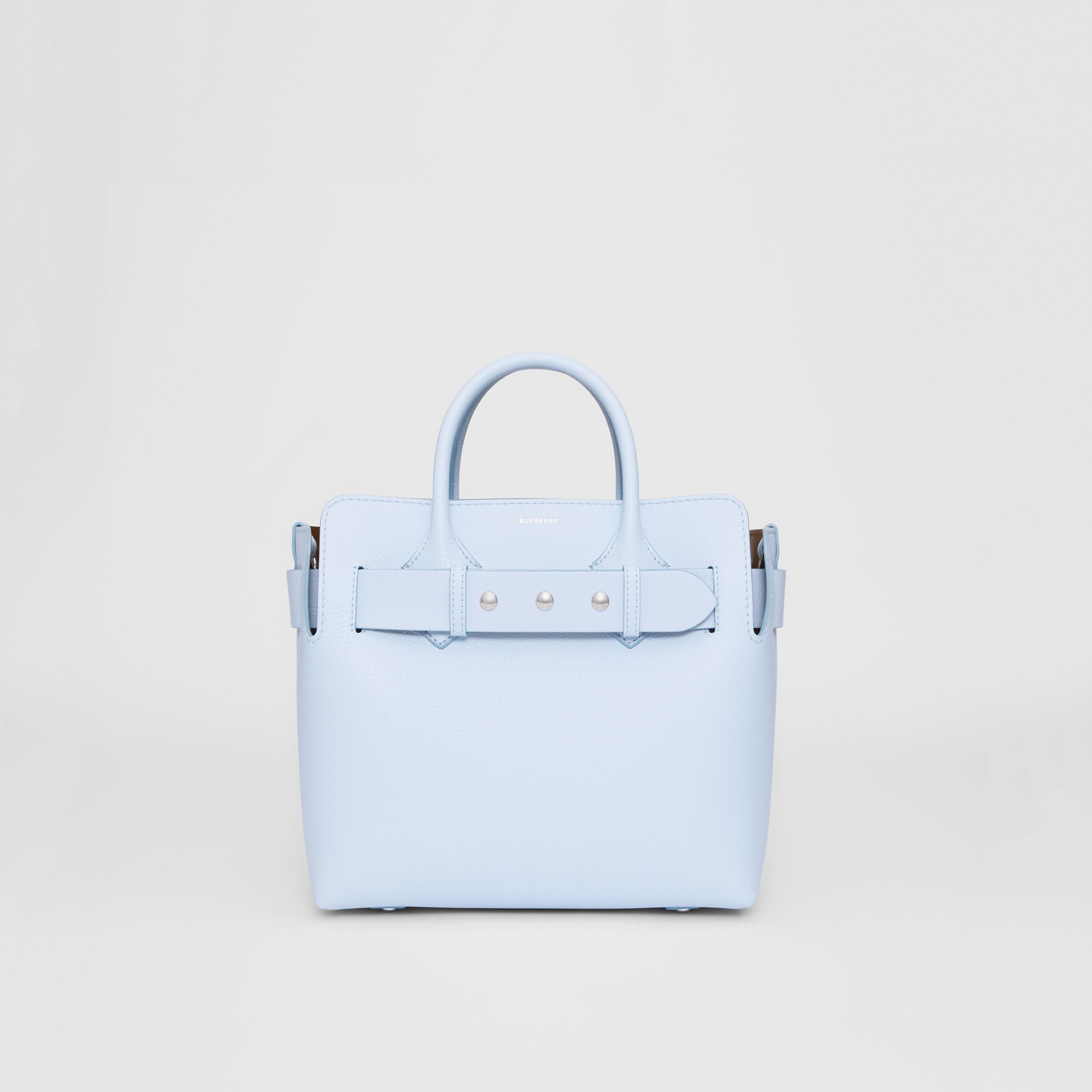 The Small Leather Triple Stud Belt Bag in Pale Blue - Women | Burberry - 1