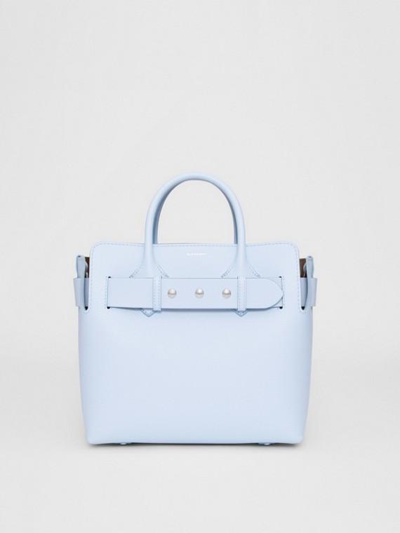 The Small Belt Bag aus Leder mit Ziernieten (Hellblau)