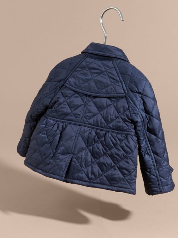 Diamond Quilted Trench Coat - cell image 3