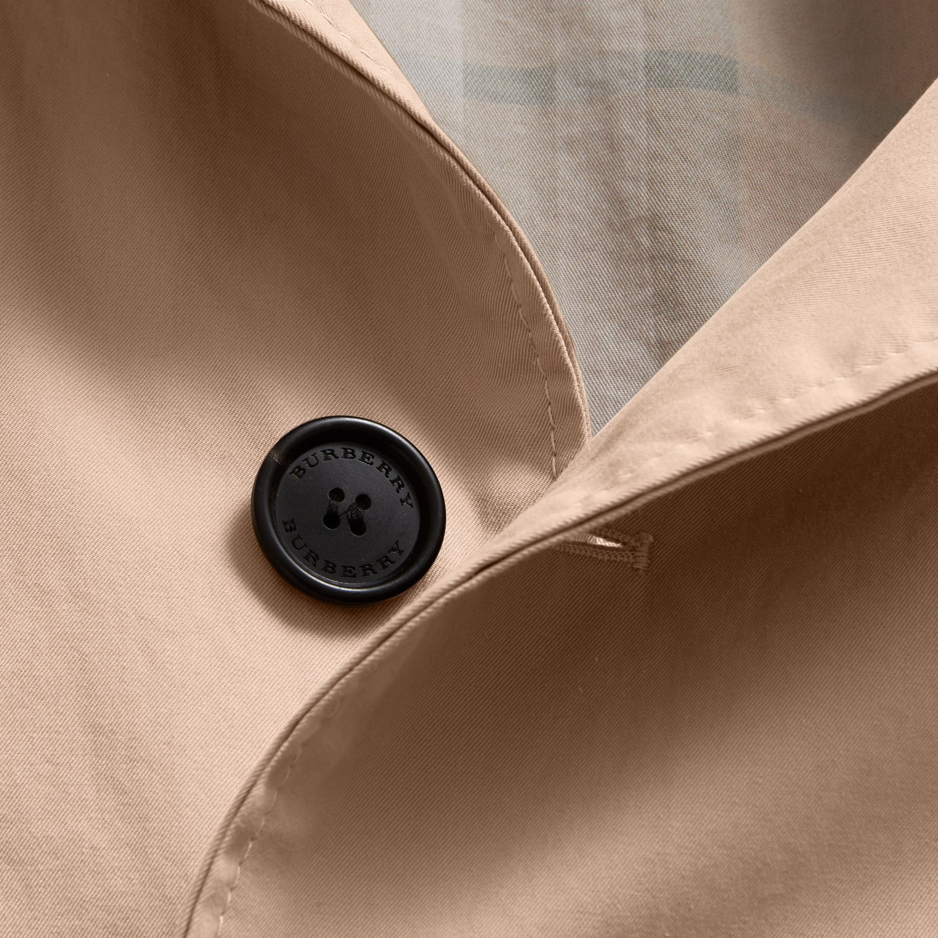 Unisex Tropical Gabardine Car Coat in Antique Taupe Pink - Men | Burberry Canada - gallery image 2