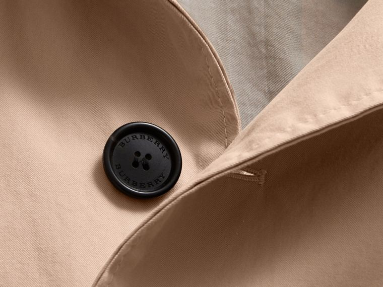 Unisex Tropical Gabardine Car Coat in Antique Taupe Pink - Men | Burberry Canada - cell image 1