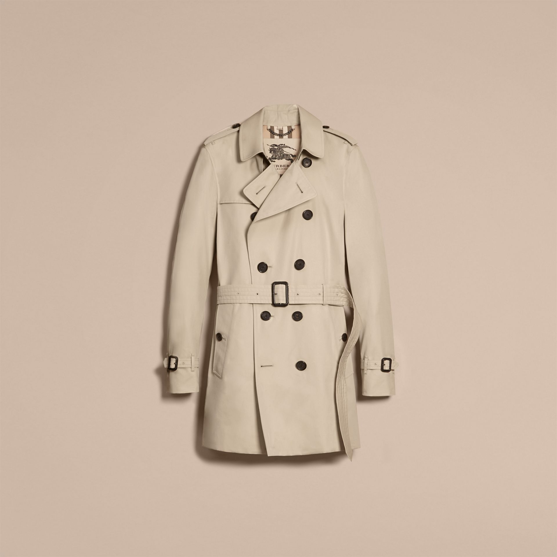 Stone The Sandringham – Mid-length Heritage Trench Coat Stone - gallery image 4