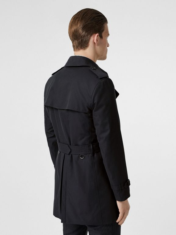 Cotton Gabardine Trench Coat in Midnight Navy - Men | Burberry Australia - cell image 1