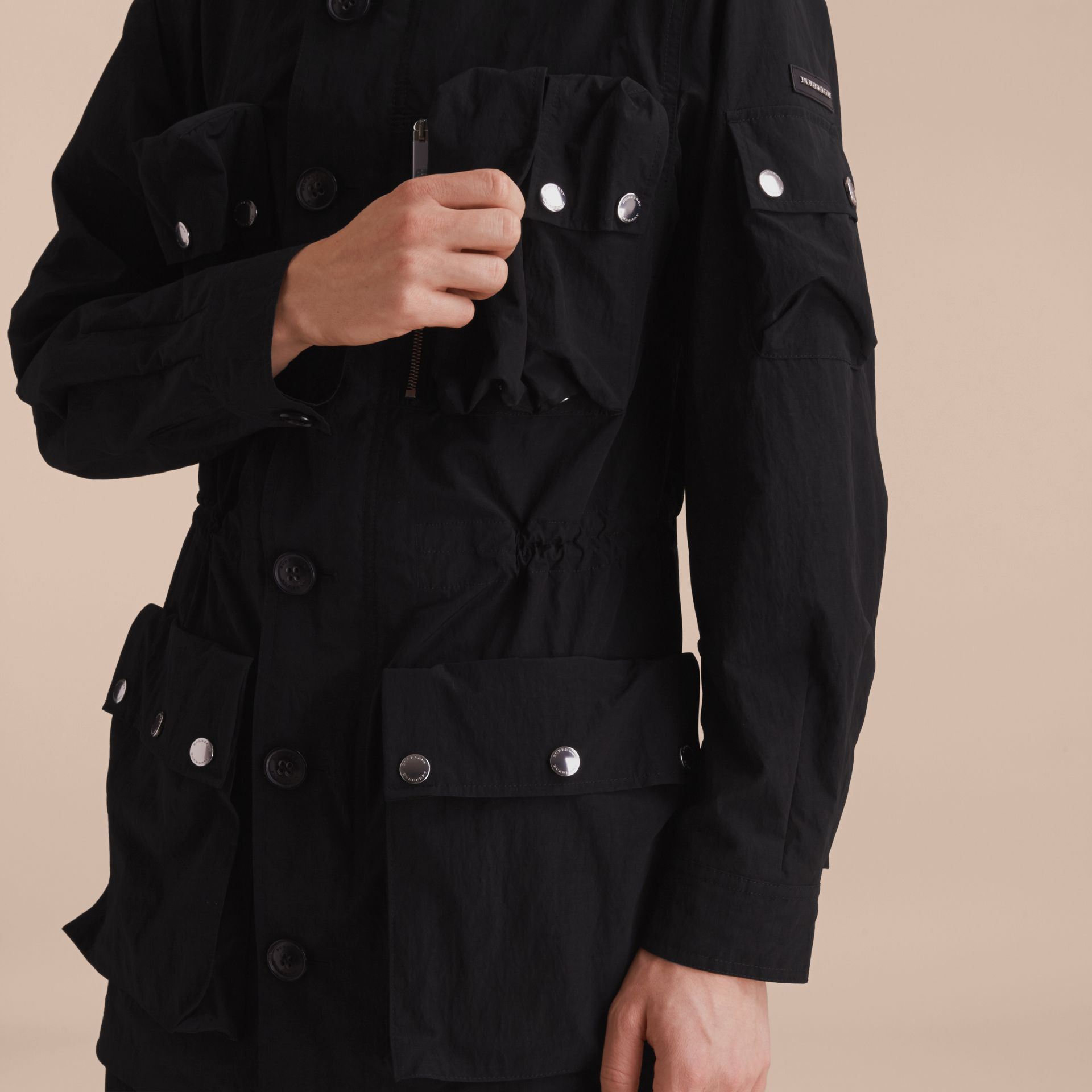 Hooded Technical Field Jacket - gallery image 5