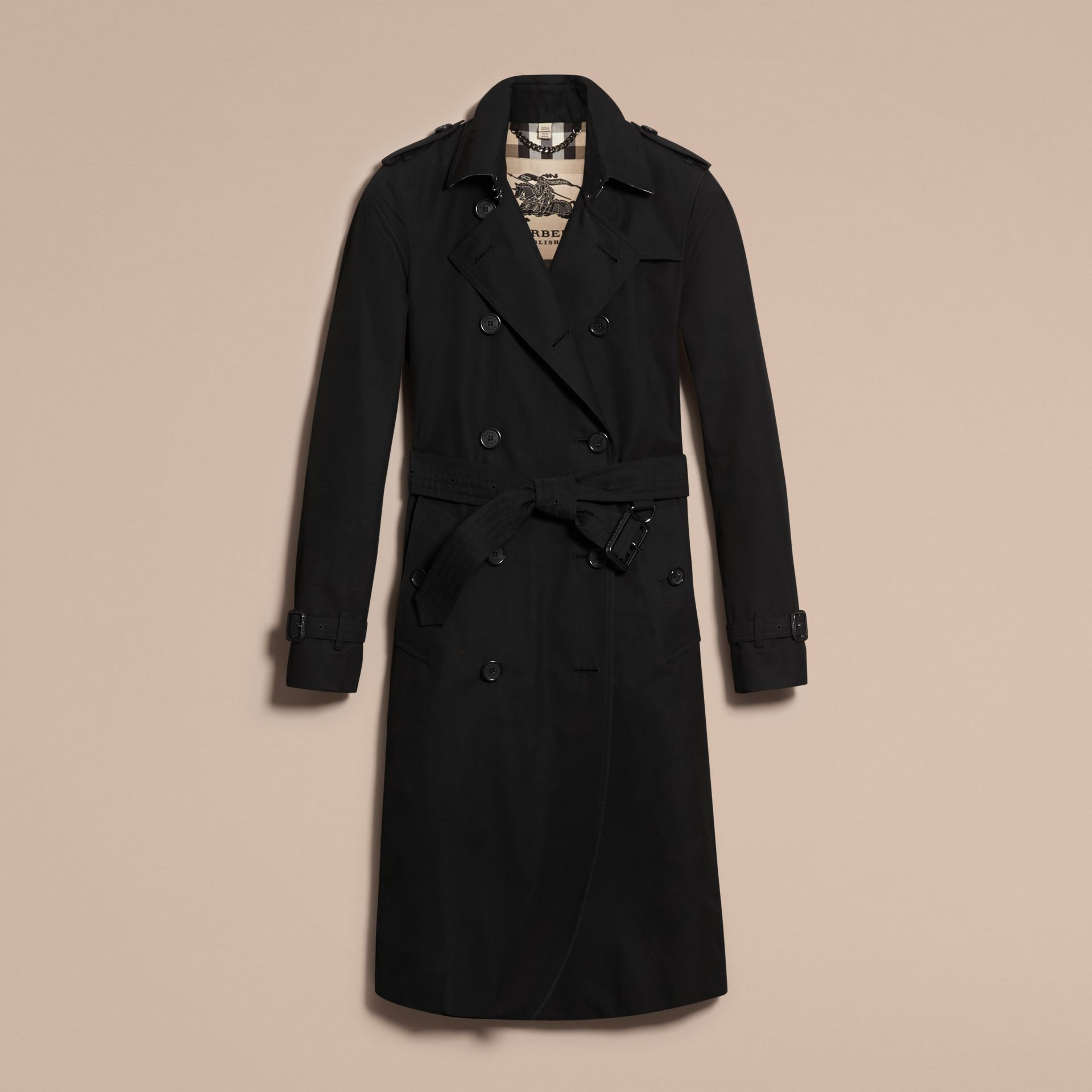 Black The Kensington – Extra-long Heritage Trench Coat Black - gallery image 4