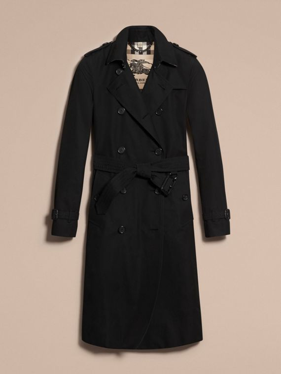 Black The Kensington – Extra-long Heritage Trench Coat Black - cell image 3