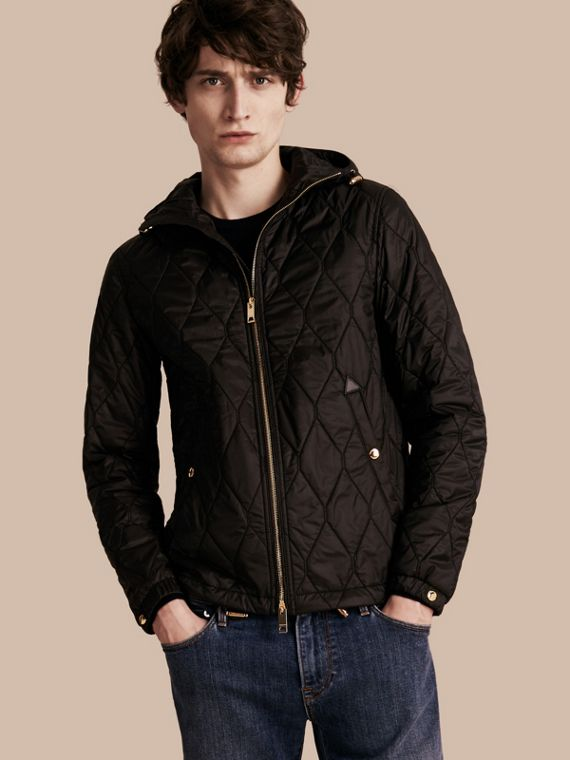 Hooded Lightweight Quilted Jacket