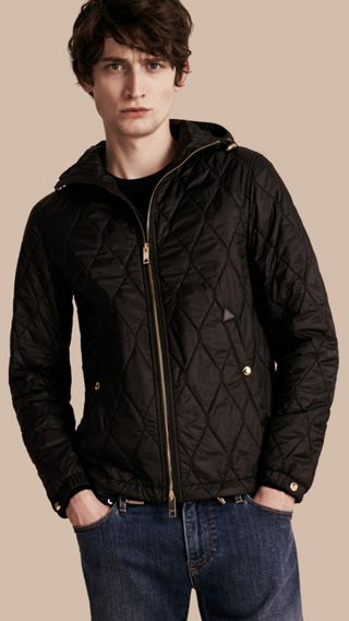 Hooded Military Quilted Jacket