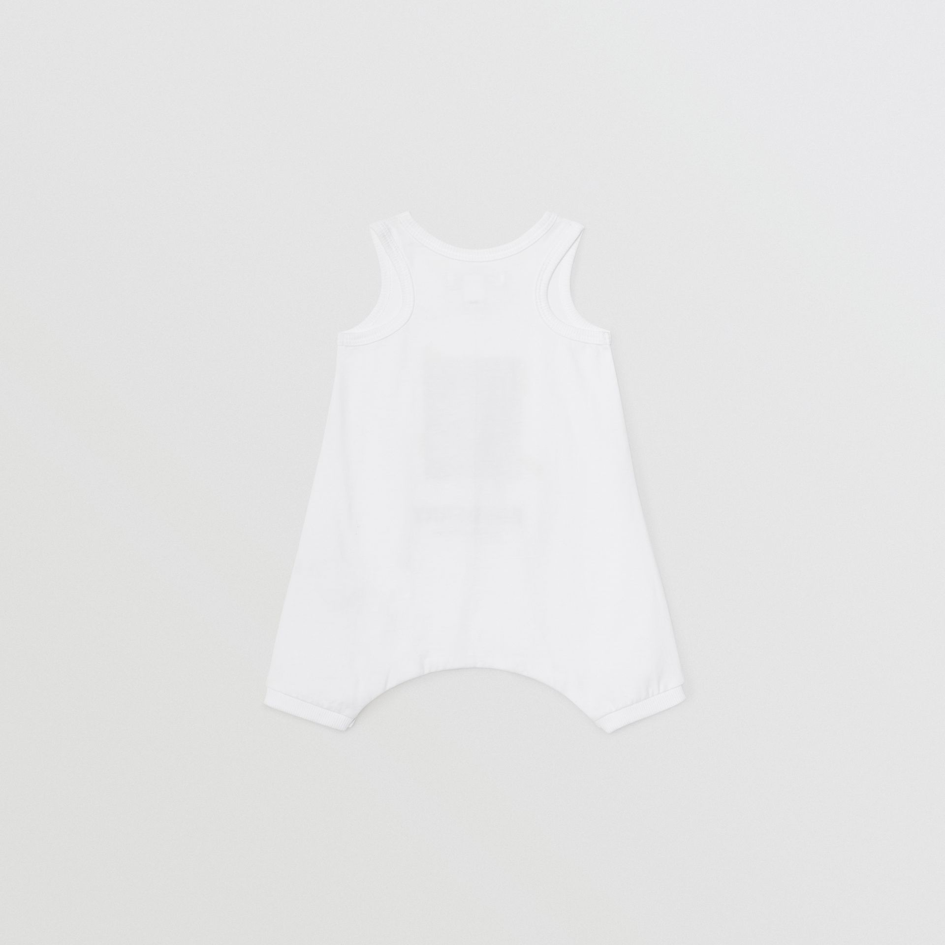 Polaroid Print Cotton Bodysuit in White - Children | Burberry - gallery image 3