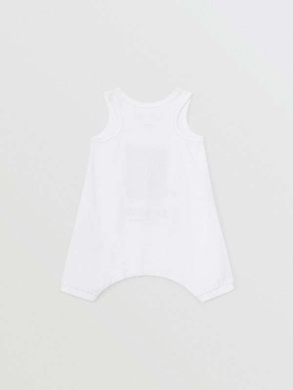 Polaroid Print Cotton Bodysuit in White - Children | Burberry United States - cell image 3