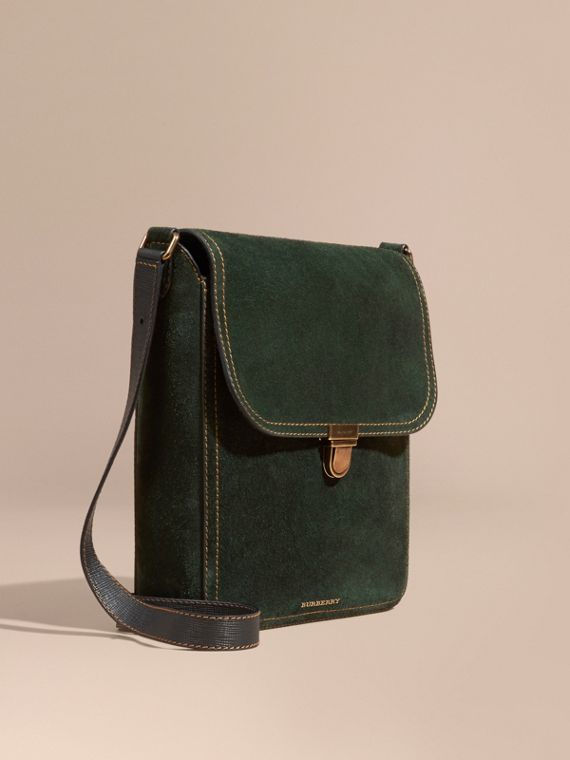 The Satchel media in pelle scamosciata inglese