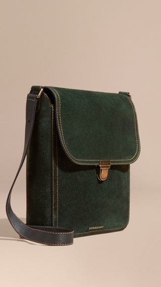 The Medium Satchel in English Suede