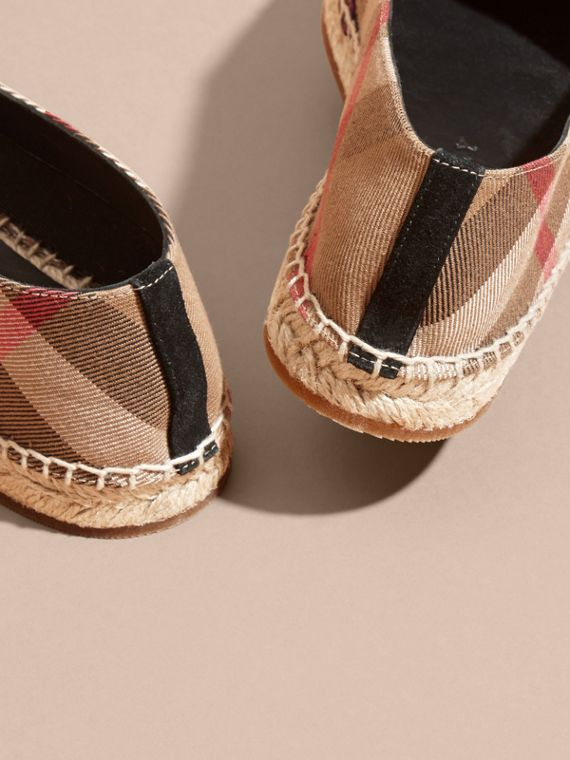 Classic check Rainbow Graphic Print Canvas and Suede Check Espadrilles - cell image 3