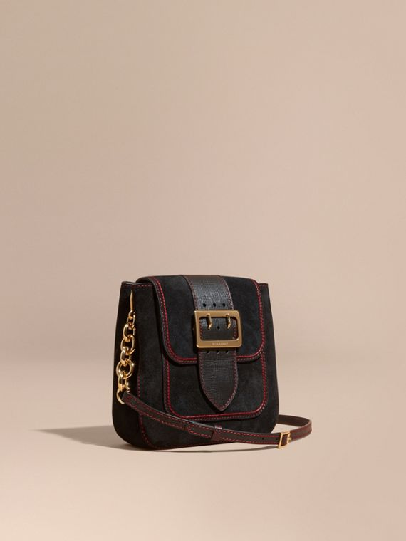 The Medium Buckle Bag – Square in English Suede and Leather