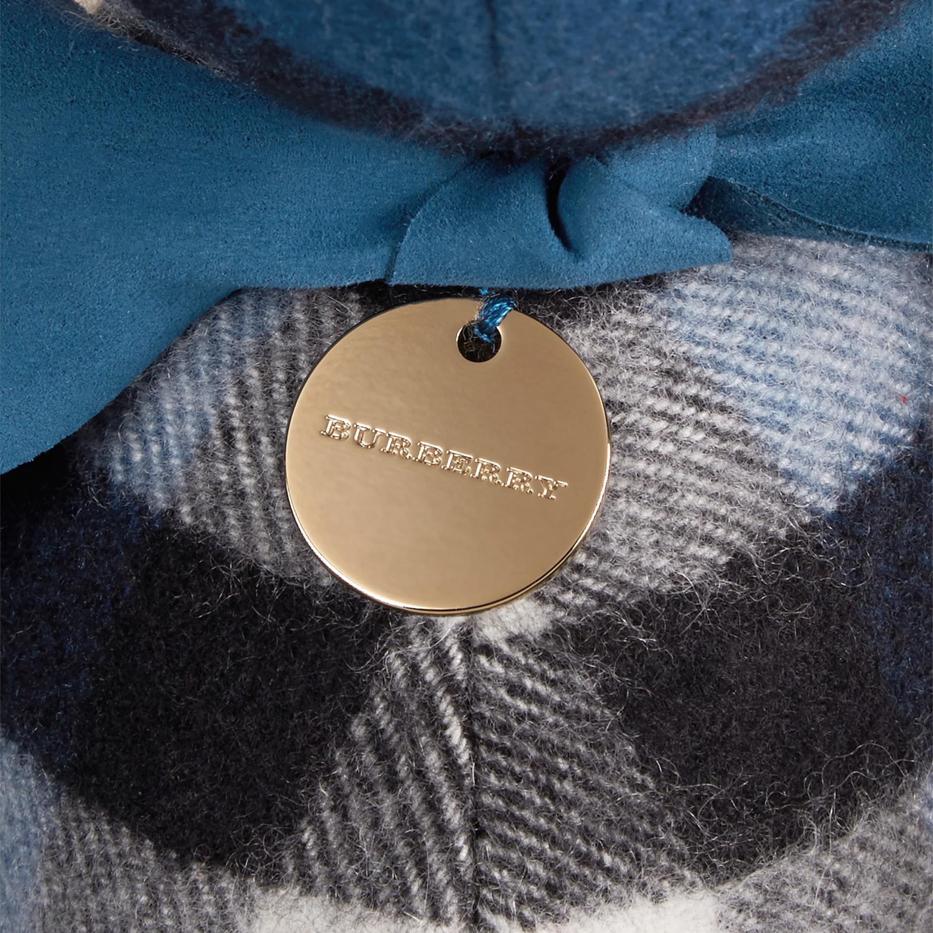 Azul mar Osito de peluche Thomas en cachemir de checks Azul Mar - imagen de la galería 2
