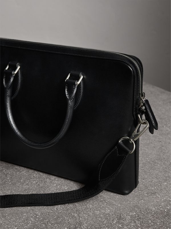 The Slim Barrow in London Leather in Black - Men | Burberry - cell image 2