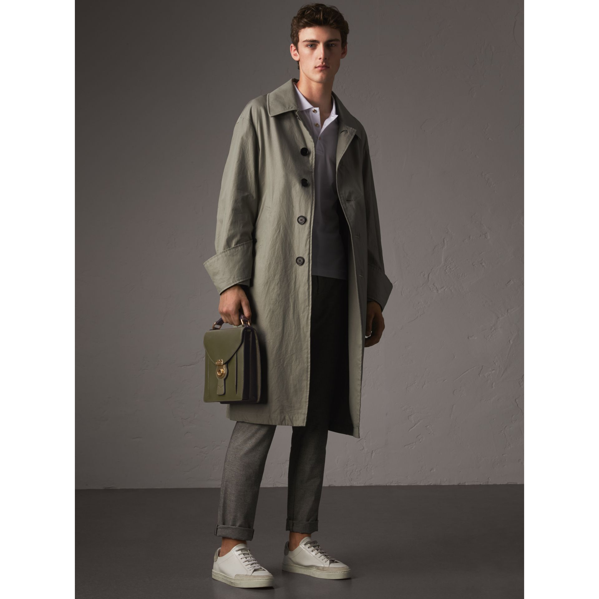 Unisex Tropical Gabardine Car Coat with Exaggerated Cuffs - Men | Burberry - gallery image 6