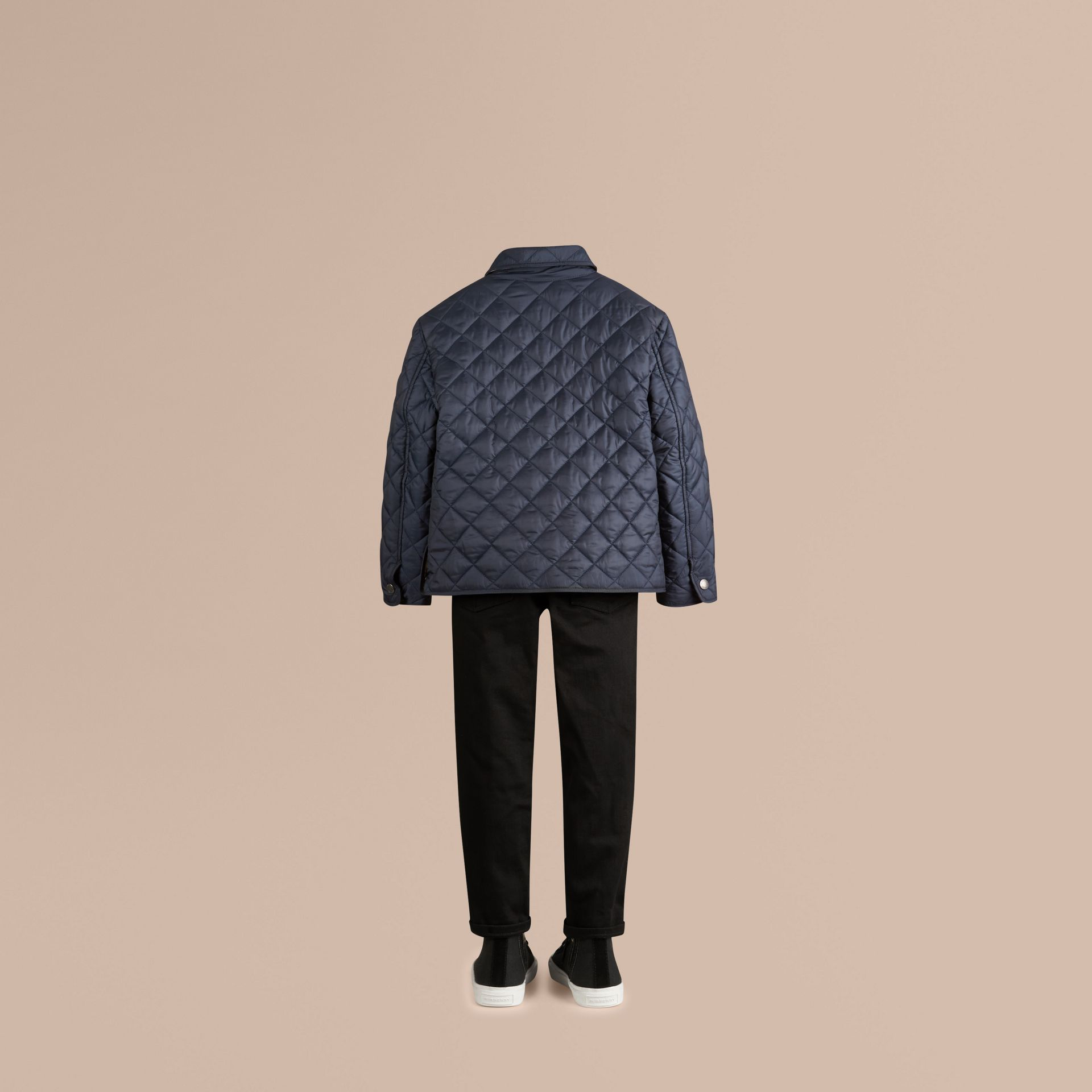 Ink blue Diamond Quilted Jacket Ink Blue - gallery image 4