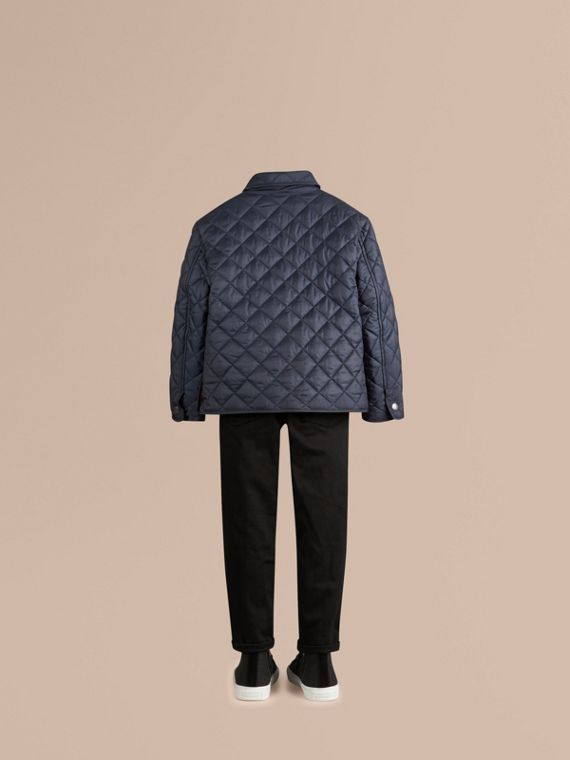 Ink blue Diamond Quilted Jacket Ink Blue - cell image 3