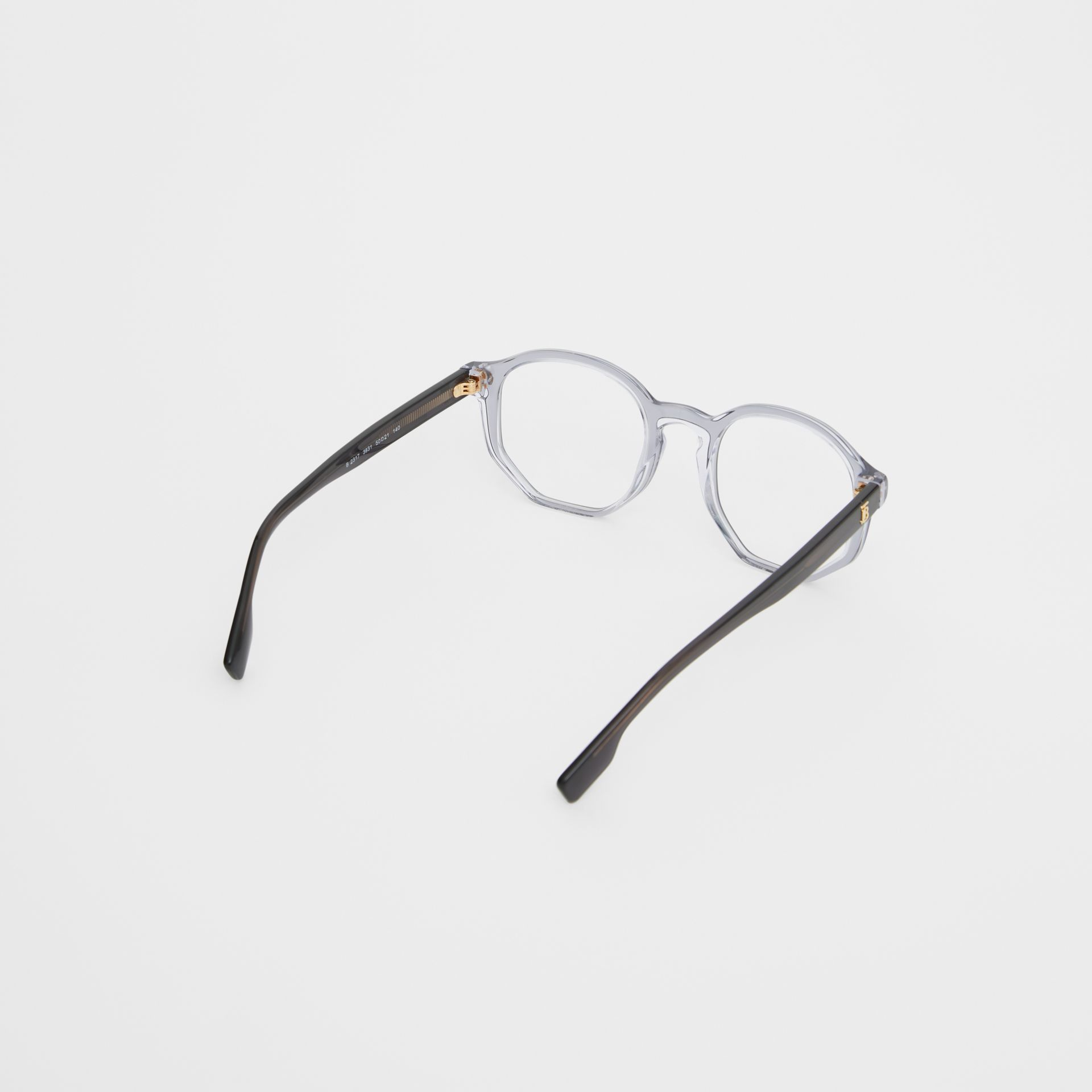 Geometric Optical Frames in Grey - Women   Burberry - gallery image 4