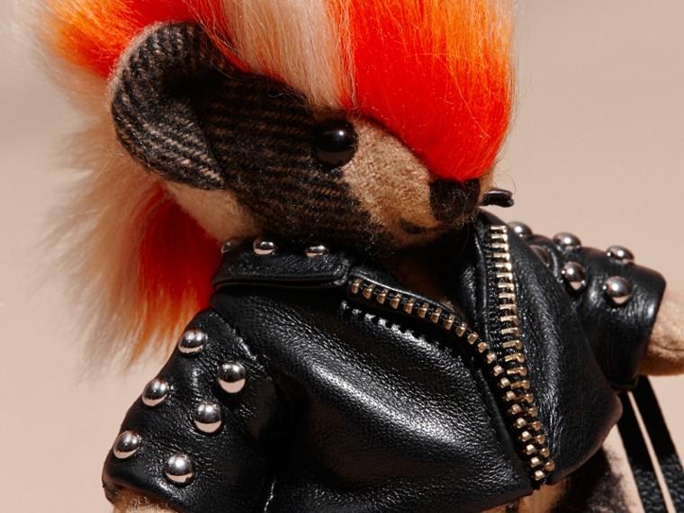 The Punk Thomas Bear Charm with Fringed Lambskin Jacket - cell image 1