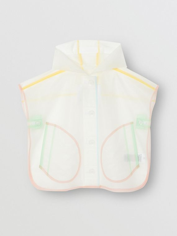 Showerproof Hooded Poncho in Clear