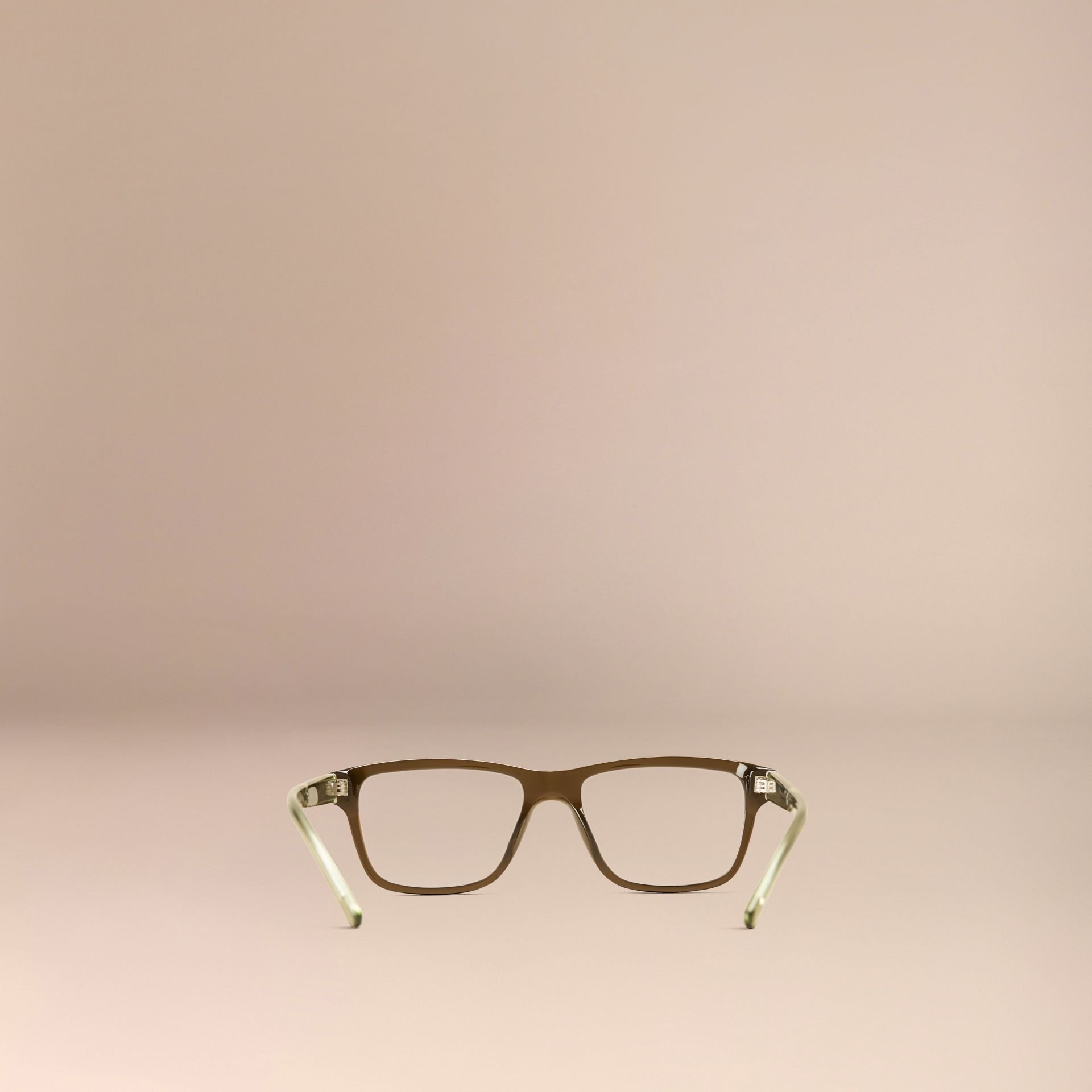 Olive Check Detail Rectangular Optical Frames Olive - gallery image 3