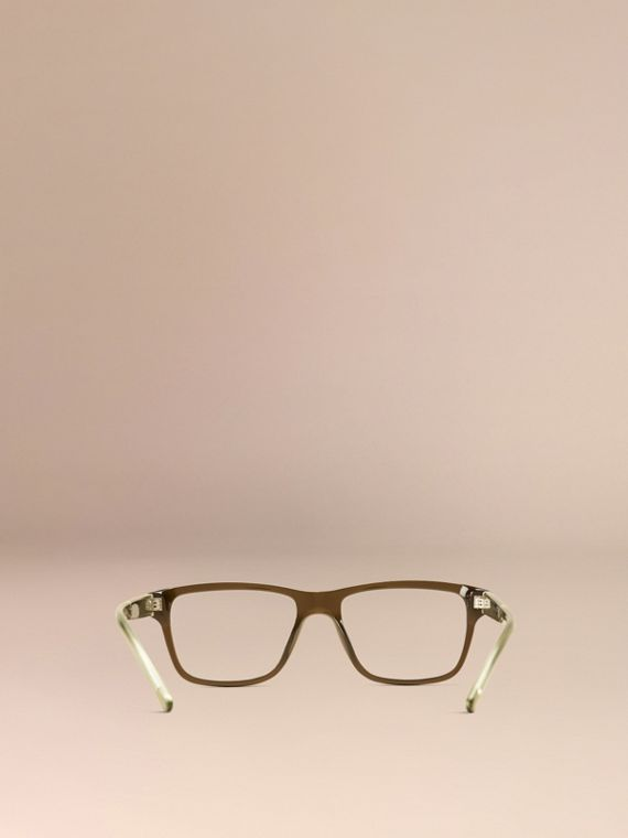 Olive Check Detail Rectangular Optical Frames Olive - cell image 2
