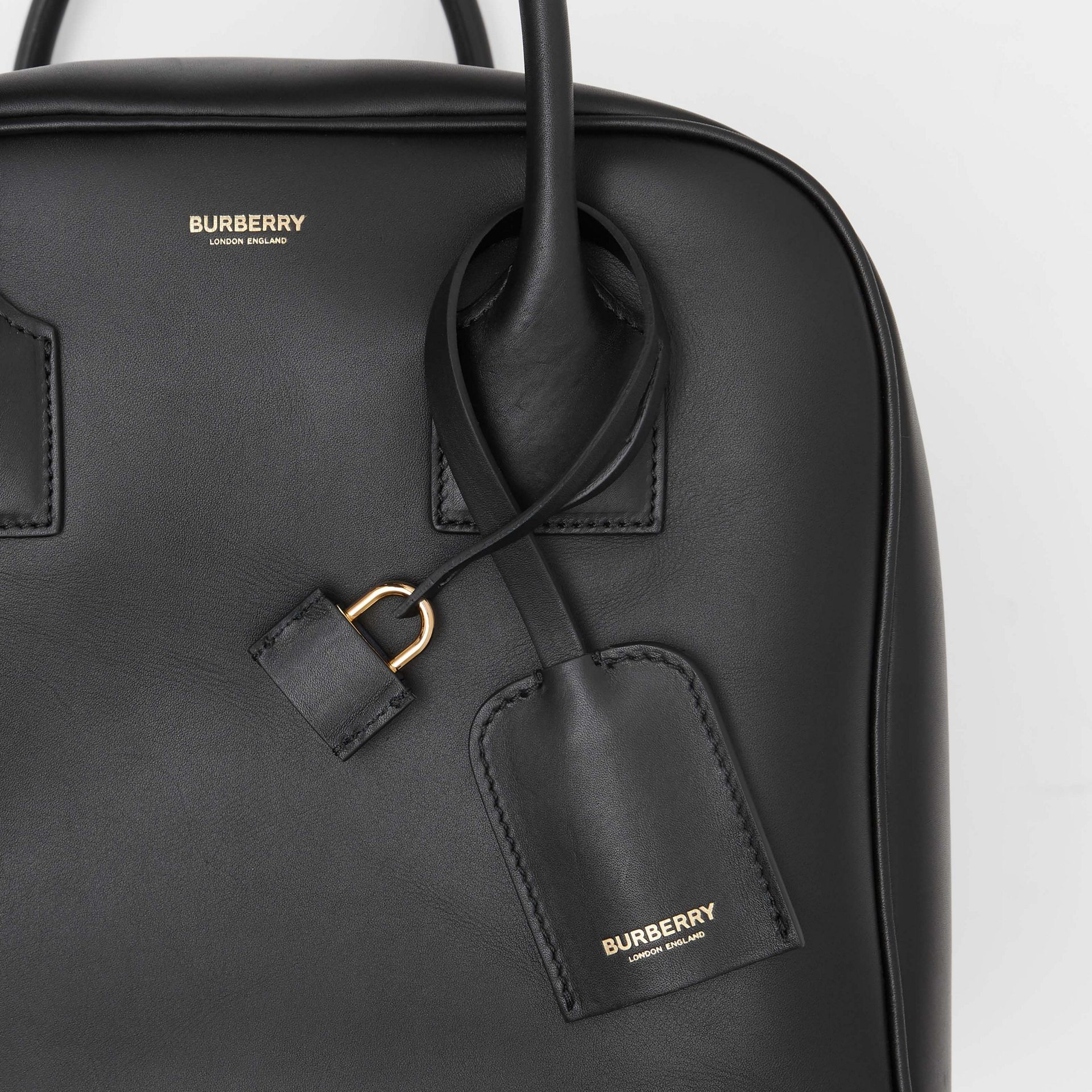 Medium Leather Cube Bag in Black - Women | Burberry United Kingdom - gallery image 8