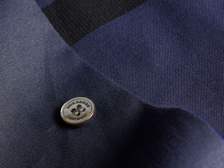 Navy Camicia in cotone con motivo check Navy - cell image 1