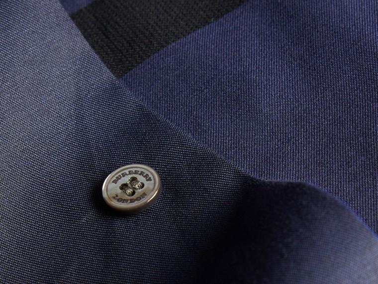 Azul marino Camisa en algodón con estampado de checks Azul Marino - cell image 1