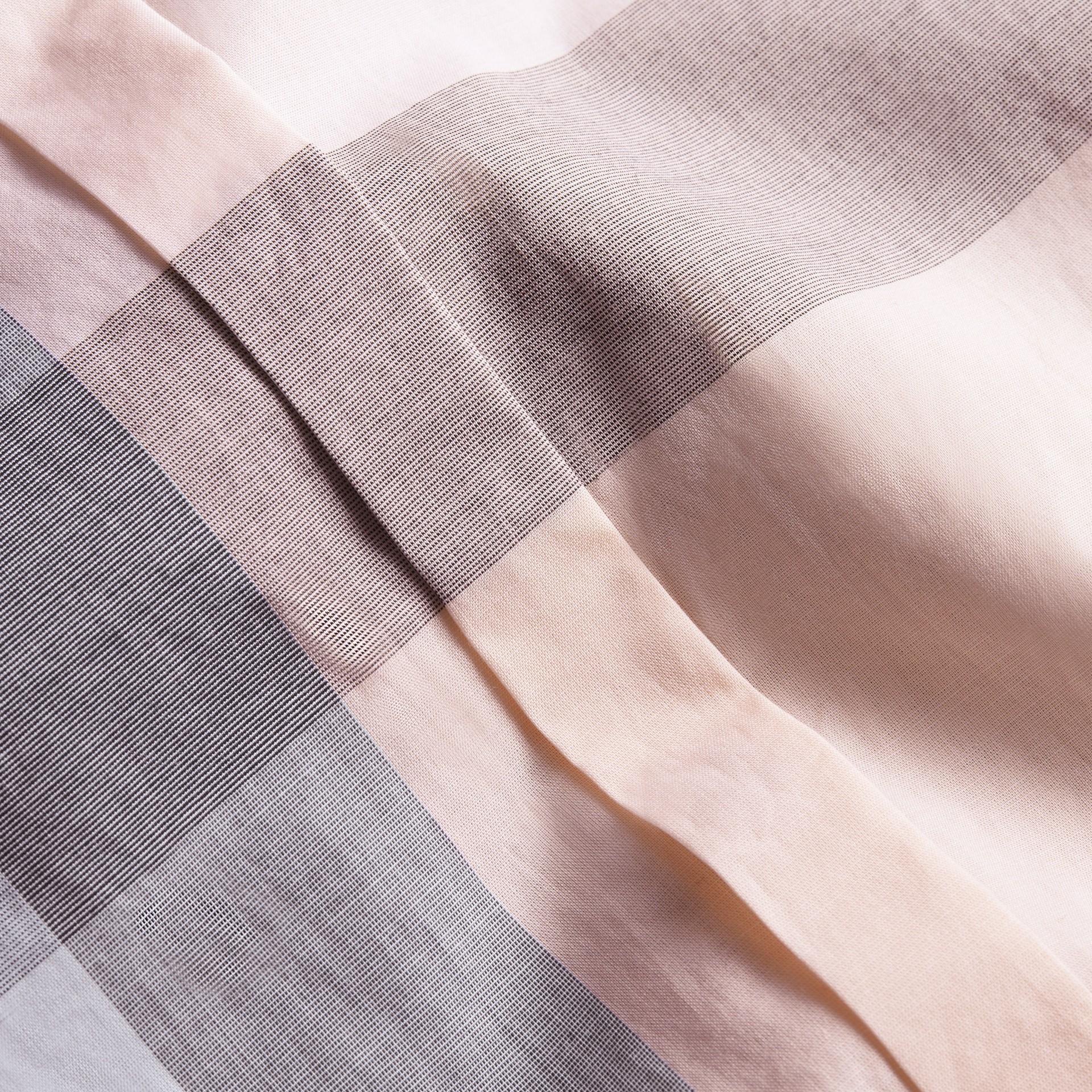 Check Cotton Shirt Apricot - gallery image 2
