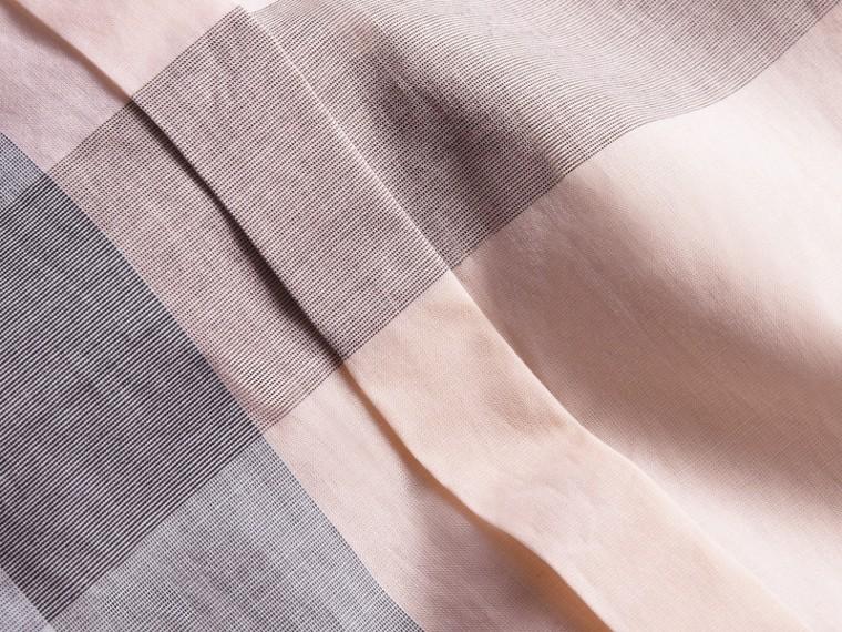 Check Cotton Shirt Apricot - cell image 1