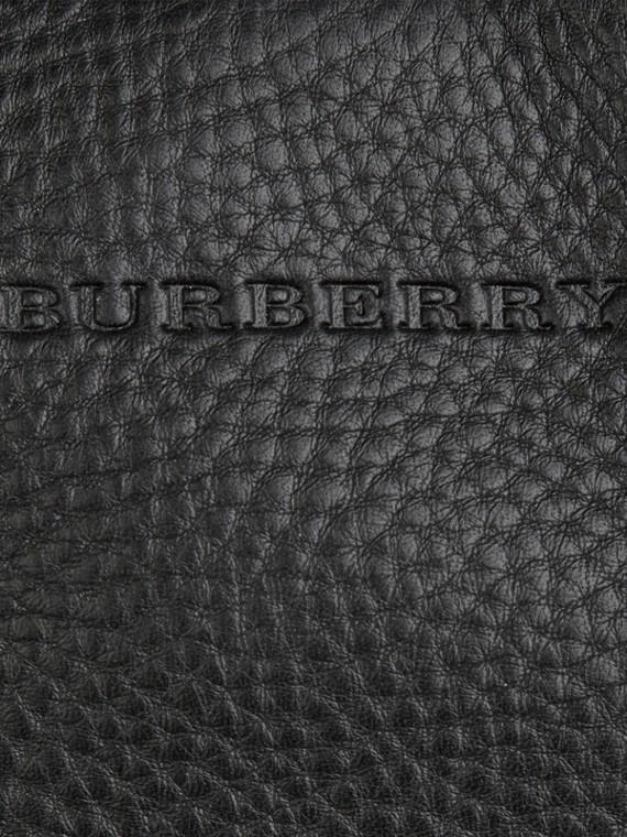 Nero Borsa tote piccola in pelle con dettaglio motivo check Nero - cell image 2