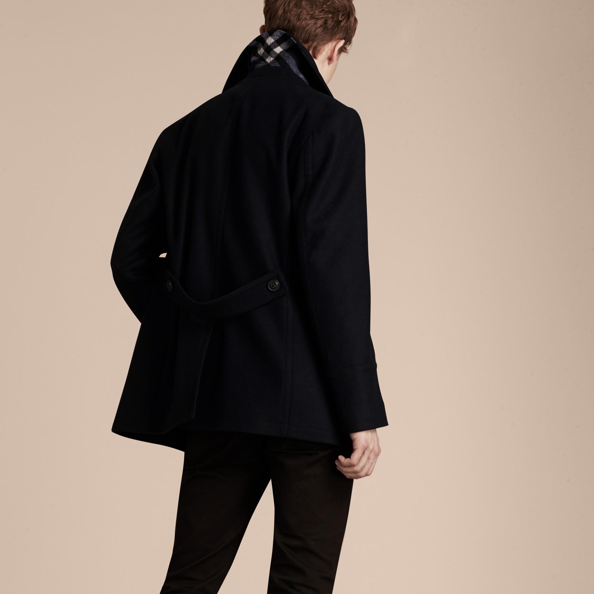 Navy Pea coat in lana e cashmere Navy - immagine della galleria 3