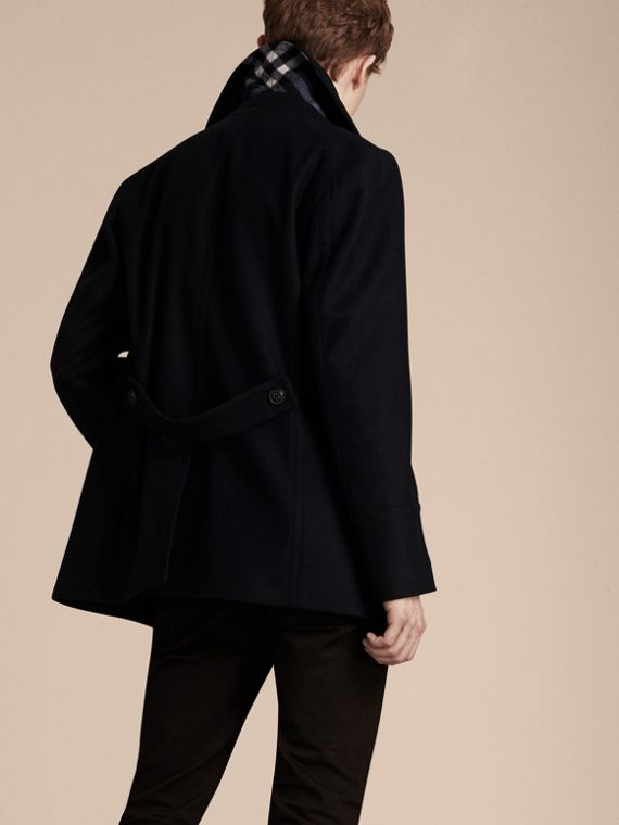 Navy Wool Cashmere Pea Coat Navy - cell image 2