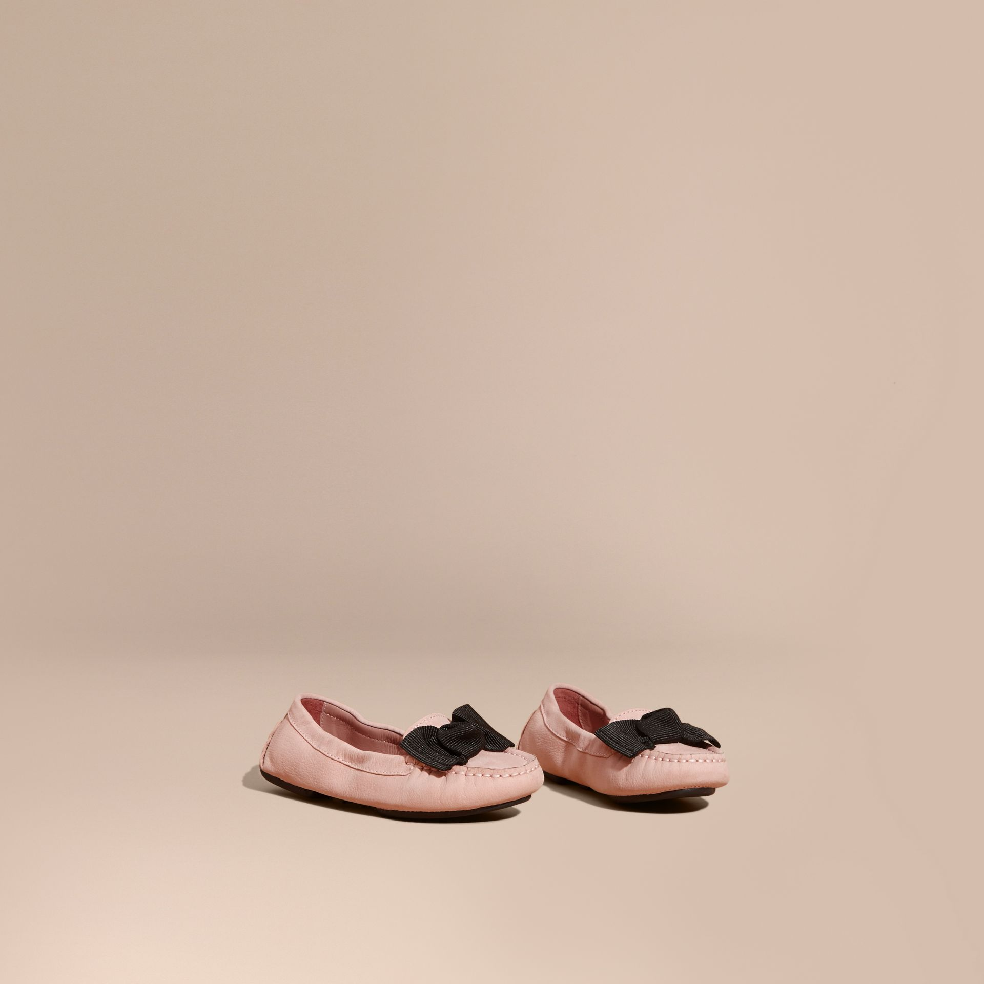 Ash rose Bow Detail Leather Loafer - gallery image 1